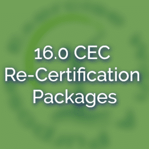 16.0 CEC Re-Certification Packages
