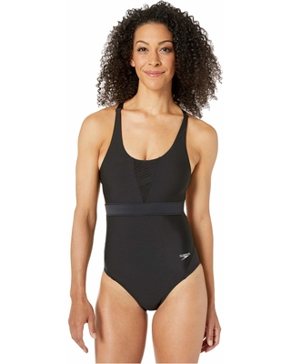 Speedo Womens Precision Pleat Leggings Speedo Swimwear 7723163-P