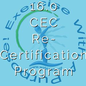 16.0 CEC Re-Certification Packages
