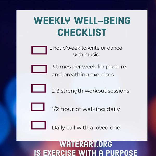 xmasWeeklyWellbeing Checklist600